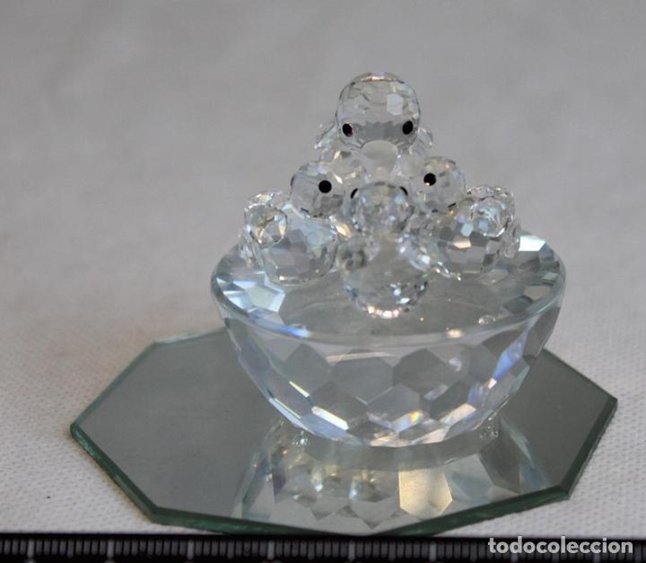 SWAROVSKI,CUATRO PATOS SOBRE UNA BASE SEMICIRCULAR. (Antigüedades - Cristal y Vidrio - Swarovski)