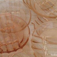 Antigüedades: SIETE PLATOS / FUENTES DE CRISTAL - ART DECO. Lote 101599459