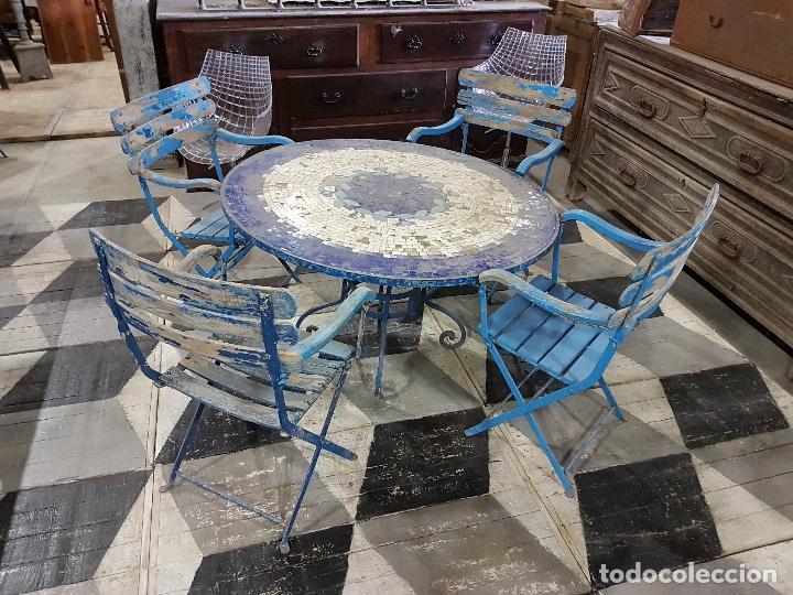 Antigüedades: Mesa y sillas de jardín - Foto 2 - 101601751