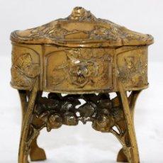 Antigüedades: JOYERO DE SOBREMESA FRANCES CON MARCA CHATELAIN. EPOCA ART-NOUVEAU. Lote 101602583