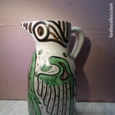 Antigüedades: BONITA JARRA DE 34CM - CERAMICA DE TERUEL - DOMINGO PUNTER TERUEL 82 -. Lote 101609503