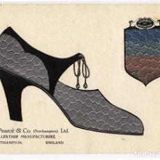 Antigüedades: MUESTRA PIEL BABY CONDOR PARA CALZADO W. PEARCE & CO (NORTHAMPTON) LTD. LEATHERS OF DISTINCTION 1928. Lote 101642015