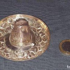Antigüedades: SOMBRERO MEXICO PLATA DE LEY CON SELLO 15.7G.. Lote 101643603