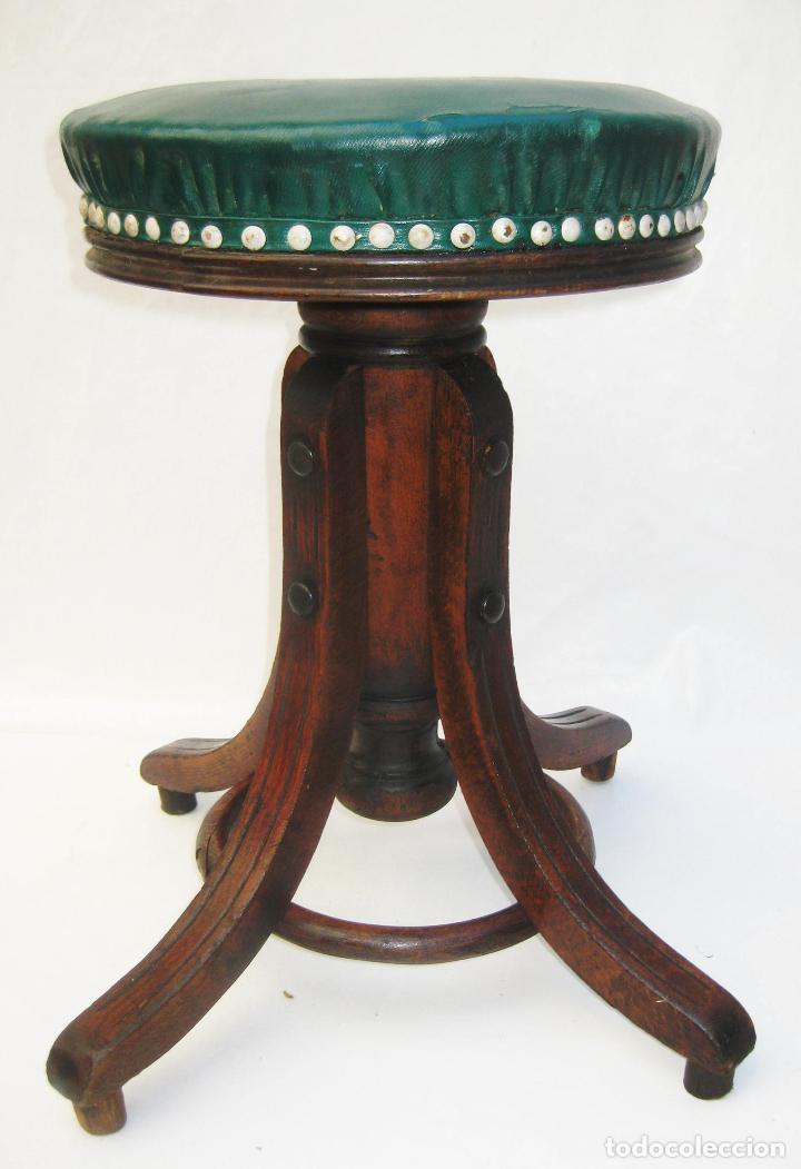 PRECIOSA SILLA TABURETE BANQUETA ANTIGUA PIANO CIRCA 1870 (Antigüedades - Muebles Antiguos - Sillas Antiguas)