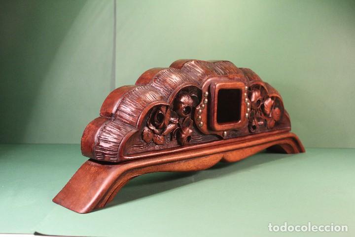Antigüedades: COPETE ORNAMENTO DECORATIVO DE MADERA - Foto 2 - 101672375