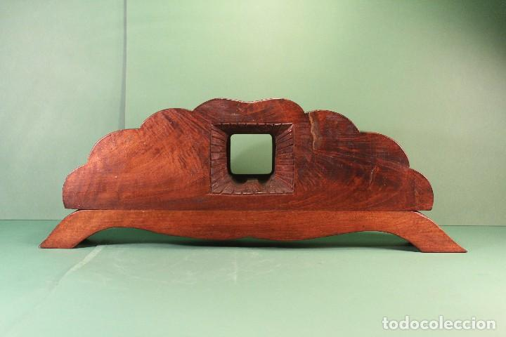 Antigüedades: COPETE ORNAMENTO DECORATIVO DE MADERA - Foto 4 - 101672375