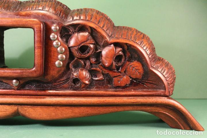 Antigüedades: COPETE ORNAMENTO DECORATIVO DE MADERA - Foto 6 - 101672375