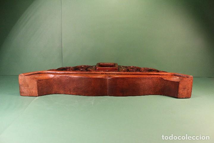 Antigüedades: COPETE ORNAMENTO DECORATIVO DE MADERA - Foto 7 - 101672375