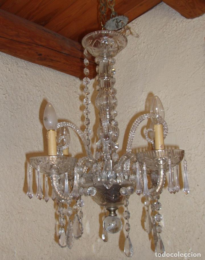 Antigua lampara ara a de cristal tallado poca comprar l mparas antiguas en todocoleccion - Lamparas de arana de cristal ...