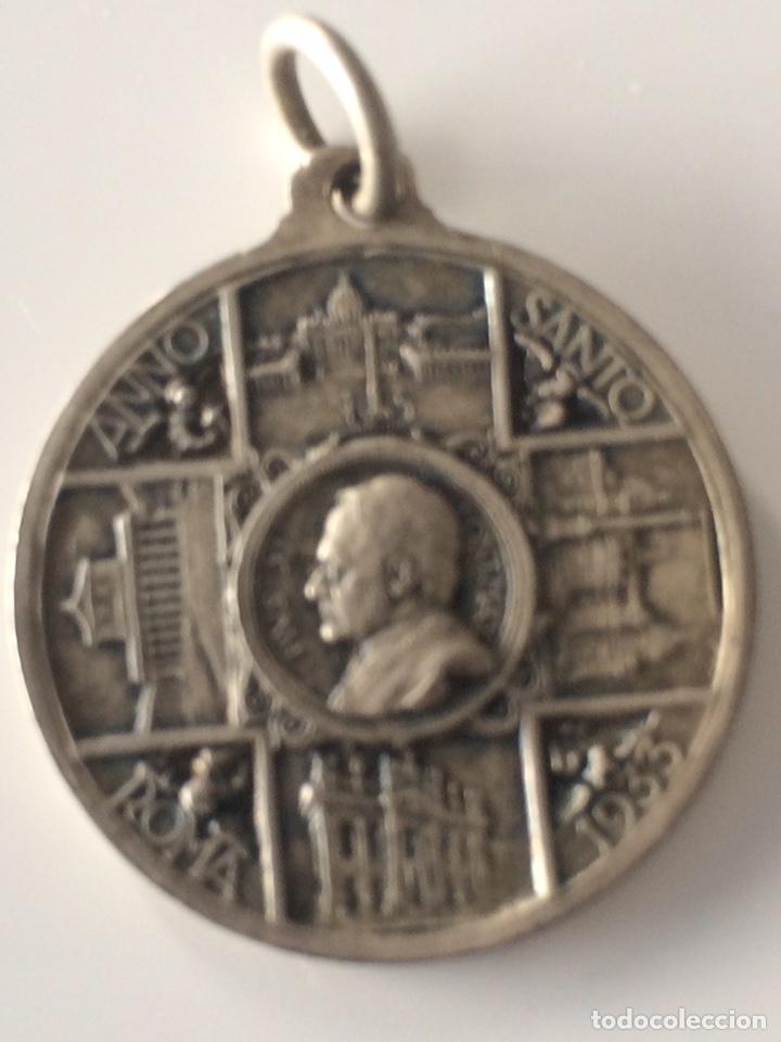 Antigüedades: Medalla año santo Roma 1933 25x25cm - Foto 2 - 101732370