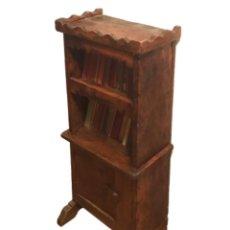 Antigüedades: MUEBLE LIBRERÍA -MESILLA, AUXILIAR- DE CASERÍO VASCO.TENGO 2. Lote 101735207