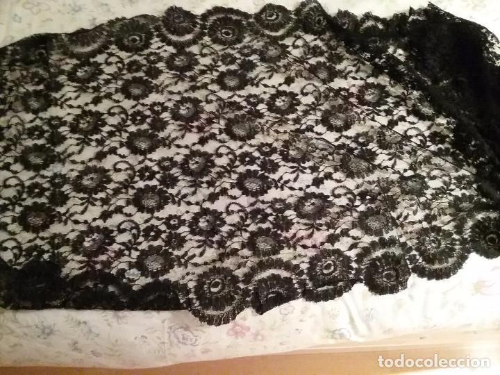 Antigüedades: Mantilla / velo negro antiguo - Foto 2 - 101741355