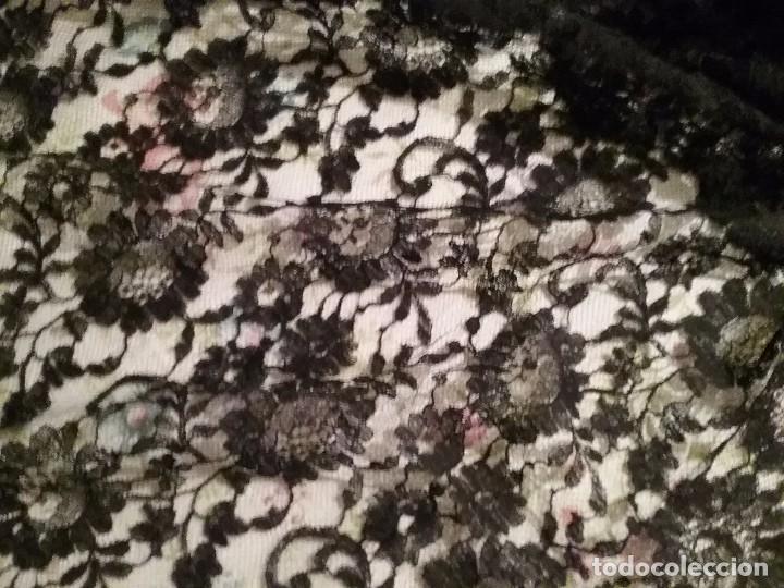 Antigüedades: Mantilla / velo negro antiguo - Foto 3 - 101741355
