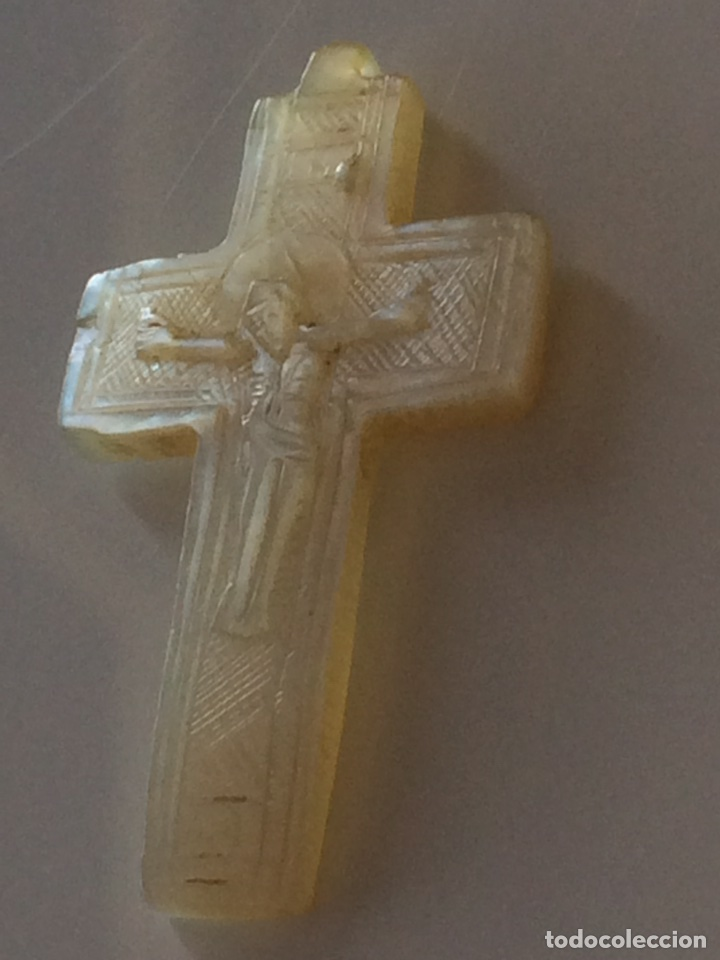 CRUZ DE NACAR 45X2CM (Antigüedades - Religiosas - Crucifijos Antiguos)