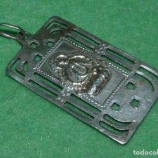 Antigüedades: BELLA MEDALLA PLATA 916 VIRGEN NUESTRA SEÑORA DE LA CABEZA ANDUJAR JAEN AÑOS 30 TROQUELADA. Lote 101773623