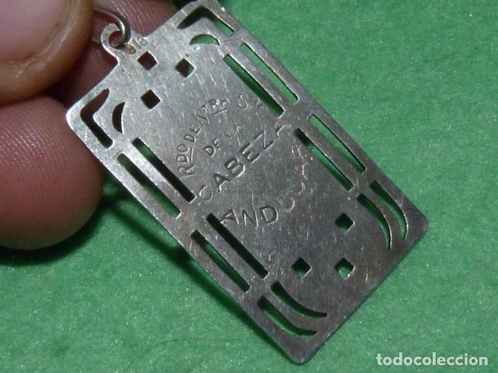 Antigüedades: BELLA MEDALLA PLATA 916 VIRGEN NUESTRA SEÑORA DE LA CABEZA ANDUJAR JAEN AÑOS 30 TROQUELADA - Foto 2 - 101773623