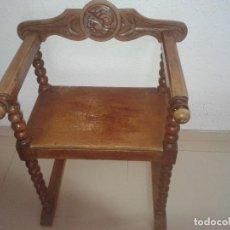 Antigüedades: SILLA JAMUGA DE MADERA. Lote 73732723