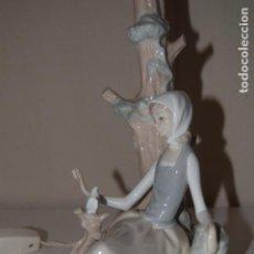 Antigüedades: LAMPARA DE PORCELANA LLADRO . Lote 101787983