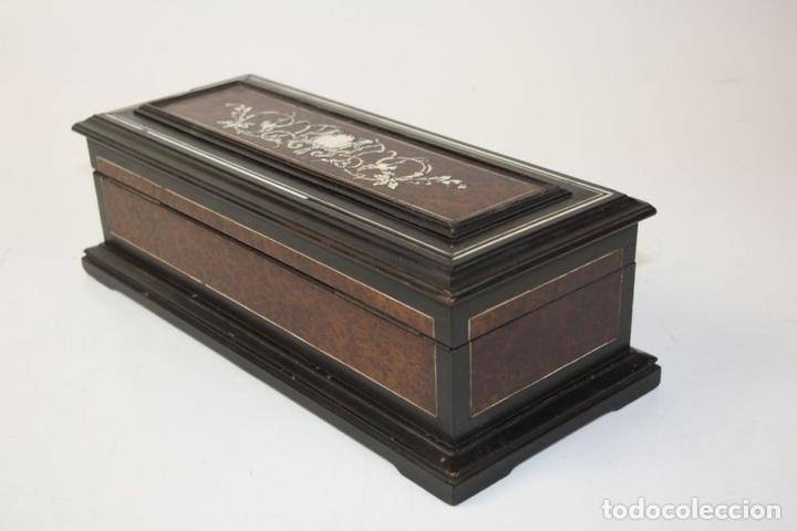 Antigüedades: CAJA-JOYERO. MARQUETERIA DE HUESO. ITALIA?. CIRCA 1870 - Foto 8 - 56349723