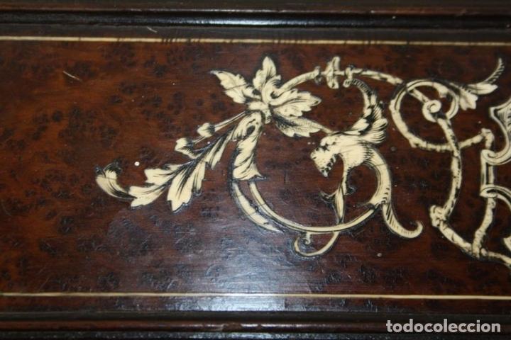 Antigüedades: CAJA-JOYERO. MARQUETERIA DE HUESO. ITALIA?. CIRCA 1870 - Foto 10 - 56349723