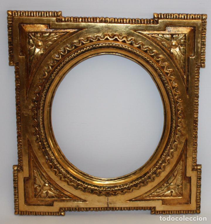 bonito marco en madera policromada de la segund - Comprar Marcos ...
