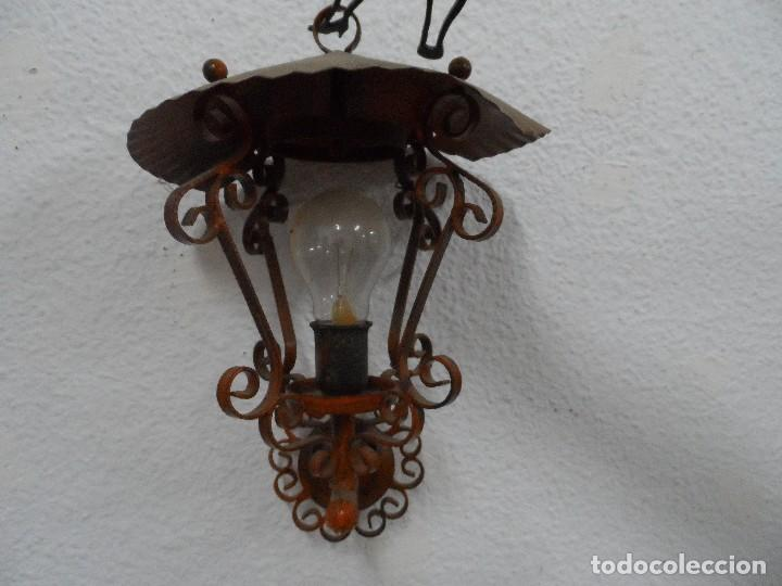 FAROL ANTIGUO HIERRO (Antigüedades - Iluminación - Faroles Antiguos)