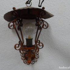 Antigüedades: FAROL ANTIGUO HIERRO. Lote 101863807