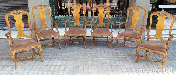 conjunto de 6 sillones. madera de nogal blanco. - Comprar Sillones ...