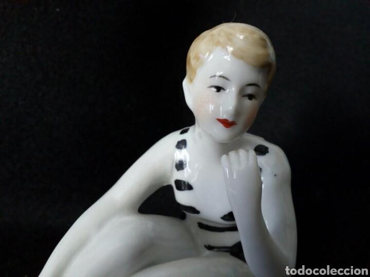 Antigüedades: FIGURA BAÑISTA PORCELANA ART DECO, AÑOS 30, MODERNISTA, ART NOUVEAU, ART NOVEAU, DESNUDO FEMENINO - Foto 2 - 101984462