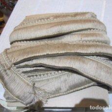 Antigüedades: 10 METROS DE CINTA BEIGE, PASAMANERÍA. 5 CMS. ANCHO.. Lote 101985531