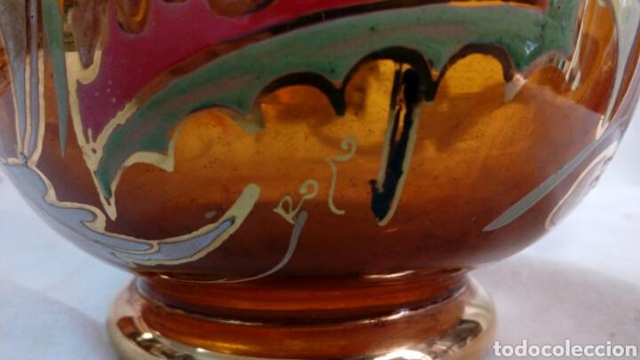 Antigüedades: Jarrón cristal pintado Cirera/ Royo - Foto 5 - 101993744