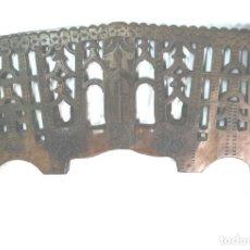 Antigüedades: YUGO AÑOS 20 GALICIA, TALLADO CINZELADO CON CRUZ CENTRAL EN ROBLE. MED. 110 X 4 X 58 CM. Lote 101997035