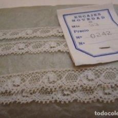Antigüedades: PIEZA DE PUNTILLA DE TUL. Lote 101999203