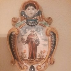 Antigüedades: BENDITERA ANTIGUA DE CERÁMICA. Lote 102033758