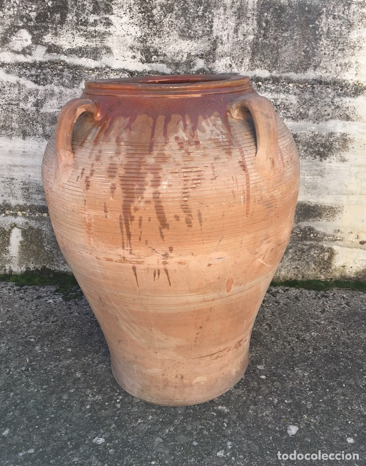 Antigüedades: IMPORTANTE TINAJA DE BARRO - Foto 2 - 102064964
