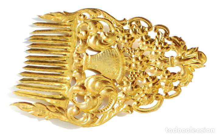 Antigüedades: peineta de fallera primera mitad del s.XX - 22,5 CM DE ALTA - Foto 6 - 102070663