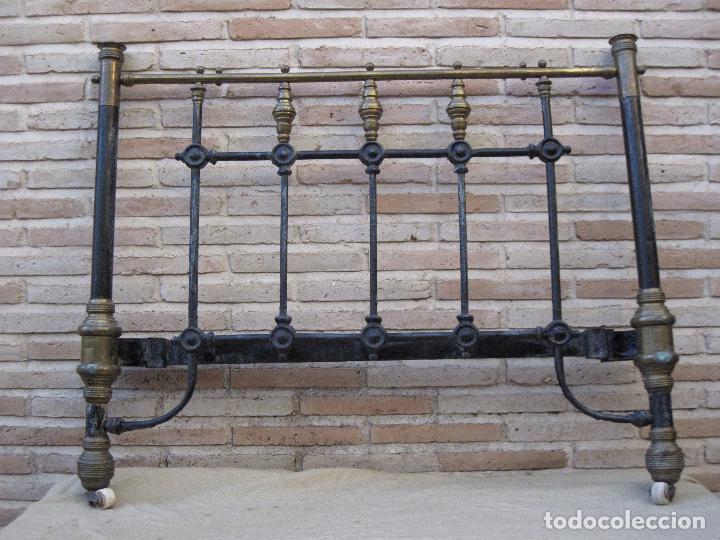 lote de : piecero y cabecero antiguos metalicos - Comprar Camas ...