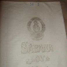 Antigüedades: ANTIGUA SABANA JOYA TEXTIL ALGODONERA BARCELONA. Lote 102090331