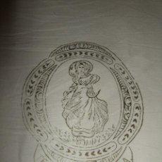 Antigüedades: ANTIGUA SABANA JOYA TEXTIL ALGODONERA BARCELONA. IDEAL COFECCION. NUEVA. Lote 102090331
