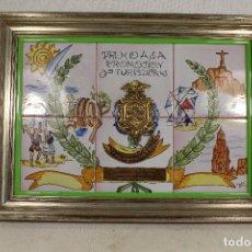 Antigüedades: CUADRO CON AZULEJOS DE LARIO - PREMIO TURISTICO DE MURCIA AL HOTEL CONDE DE FLORIDABLANCA 1988. Lote 102121323