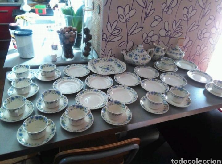 Vajilla café 40 piezas cartuja pickman perfecto estado segunda mano