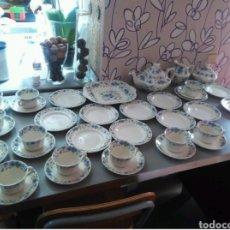 Antigüedades: VAJILLA CAFÉ 40 PIEZAS CARTUJA PICKMAN PERFECTO ESTADO. Lote 102141771