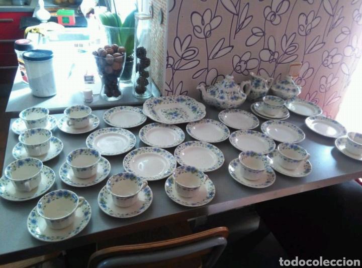 Antigüedades: Vajilla café 40 piezas cartuja pickman perfecto estado - Foto 2 - 102141771