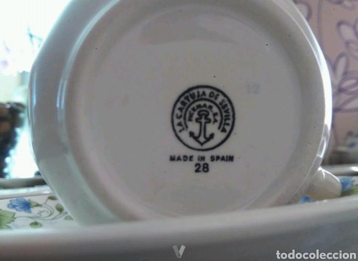 Antigüedades: Vajilla café 40 piezas cartuja pickman perfecto estado - Foto 4 - 102141771
