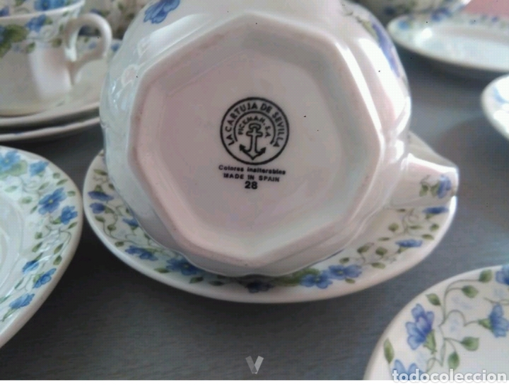 Antigüedades: Vajilla café 40 piezas cartuja pickman perfecto estado - Foto 6 - 102141771