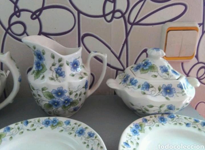 Antigüedades: Vajilla café 40 piezas cartuja pickman perfecto estado - Foto 8 - 102141771