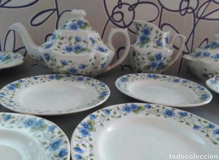 Antigüedades: Vajilla café 40 piezas cartuja pickman perfecto estado - Foto 9 - 102141771