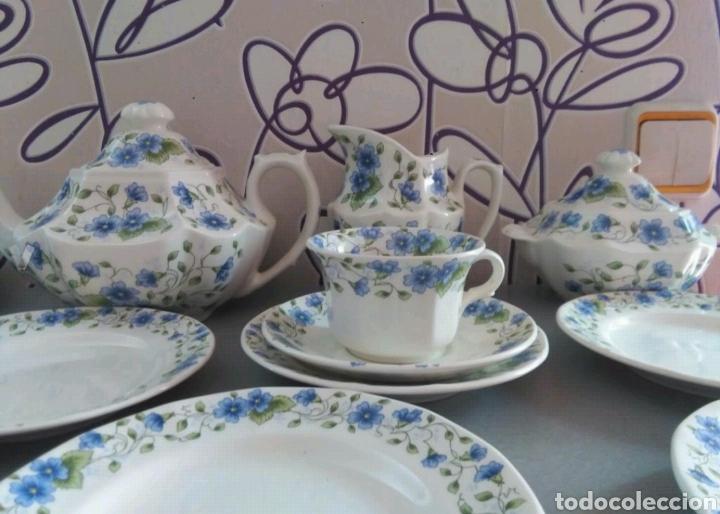 Antigüedades: Vajilla café 40 piezas cartuja pickman perfecto estado - Foto 10 - 102141771