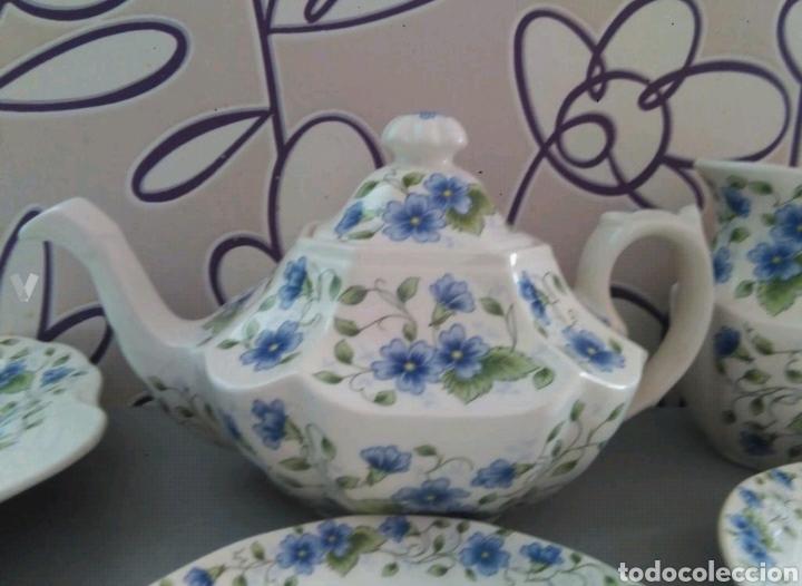Antigüedades: Vajilla café 40 piezas cartuja pickman perfecto estado - Foto 11 - 102141771