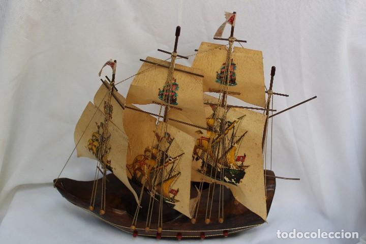 Barco decorativo de madera y papel velero comprar en - Antiguedades de barcos ...